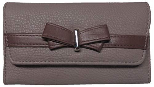 Jessica Simpson Women's Linea Tri Fold Wallet, Lilac/Plum