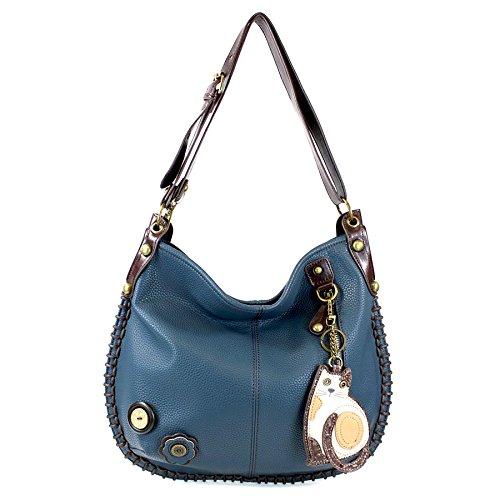 CHALA Crossbody Handbag, Hobo Style, Casual, Soft, Large Bag Shoulder or Crossbody – Cat-Navy
