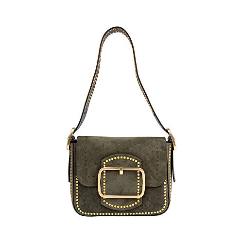 Tory Burch Sawyer Stud Ladies Small Suede Shoulder Bag 42111304