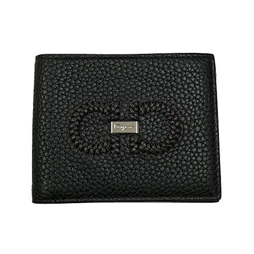 Salvatore Ferragamo Men's Gancini Black Leather Bifold Wallet 66A353