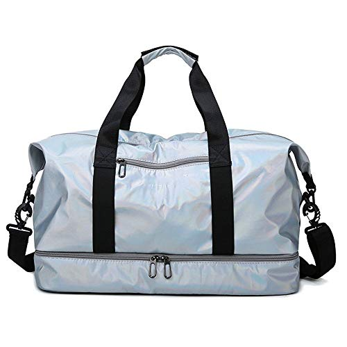 Nuanxingjiafang Gym Bag Oxford Cloth Travel Bag Dry & Wet Separation Large Capacity Adjustable Strap Duffle Bag Sport Handbag Tote for Women, 462430CM Fashion