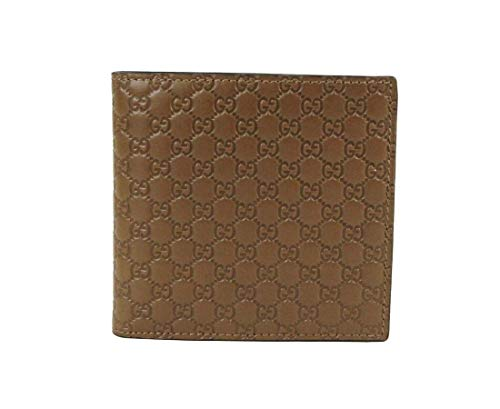 Gucci Men's Brown Microguccissima Leather Bi-fold Wallet 150413 2527