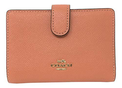Coach Crossgrain Leather Medium Corner Zip Wallet Light Coral F11484