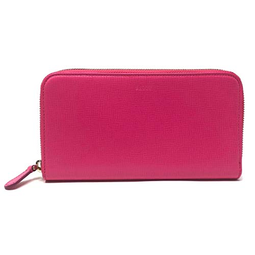 Bally Women's Morissa Leather Long Wallet in Raspberry (Pink) Blush