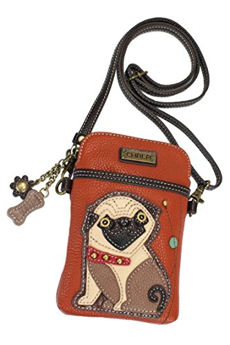 Chala Pug Cellphone Crossbody Handbag – Convertible Strap Pug Mom