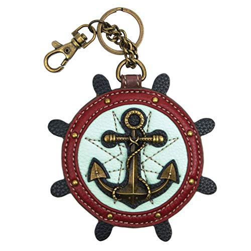 Chala Handbags Anchor Key Fob Coin Purse Chala Keychain