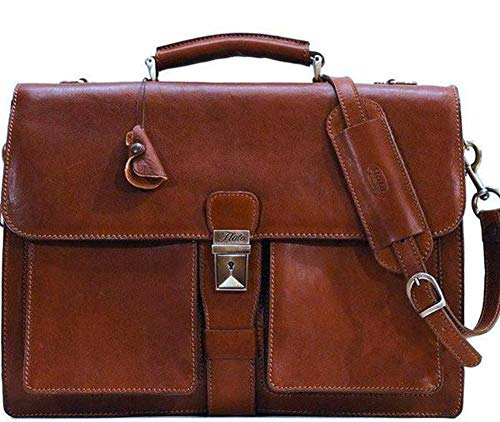 Floto Luggage Novella Briefcase, Brown, One Size
