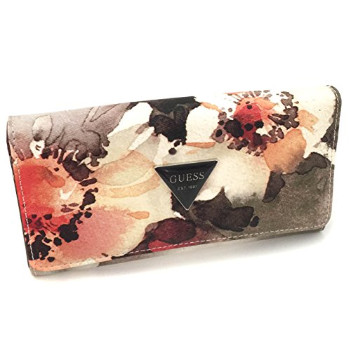 GUESS Factory Women's Abree Floral Flap Wallet