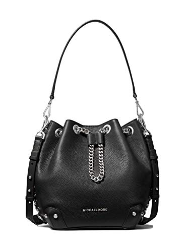 MICHAEL Michael Kors Alanis Medium Bucket Bag – Black