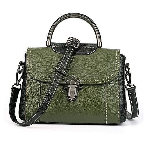 Nuanxingjiafang Handbag – Polyester Wear Resistant Lock Bag, Large Capacity Cross-Body Bag, Casual Fashion, Ladies Green Handbag (24.5cm 17cm 11cm) Fashion