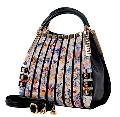Bravo Beverly Hills Luxury HANDBAG~Irina Signature Series~Floral Print Leather~Size Medium~GREAT SALE!