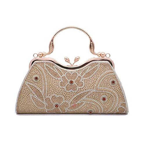 GUODLIN Diamond-Studded Shine Clutch Women's Dinner Package European and American Style Evening Handbag