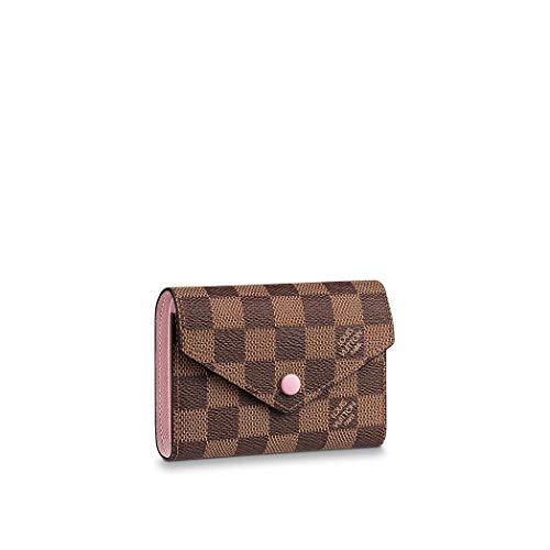 Louis Vuitton Damier Ebene Canvas Victorine Wallet N61700 Rose Ballerine
