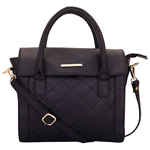 Lapis O Lupo Onyx Women's Handbag Black Designer Satchel bags with Multi Pocket