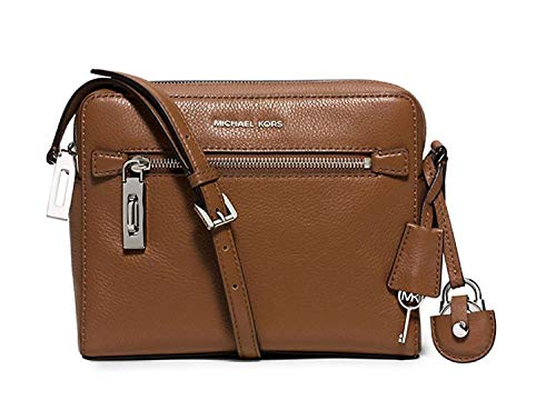 MICHAEL KORS Zoey Leather Crossbody Bag (Walnut)
