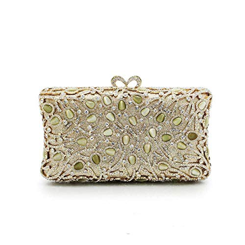 Sdcvopl Elegant Women's Evening Bag High-end Ladies Dinner Luxury Jade Rhinestone Evening Dress Chain Handbag