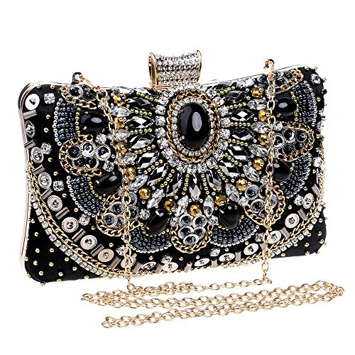 DHUYUN Evening Bag Ladies Evening Bag Handbag Prom Bag Purse for Cocktail Party Bridal Shoulder Bag Cross-Body Bags Easy to Clean