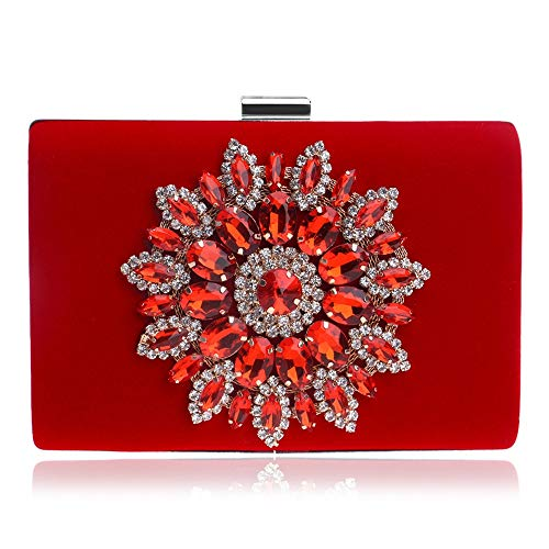 DHUYUN Evening Bag Women Clutches Evening Bags Handbags Wedding Clutch Purse with Detachable Chain Strap Easy to Clean