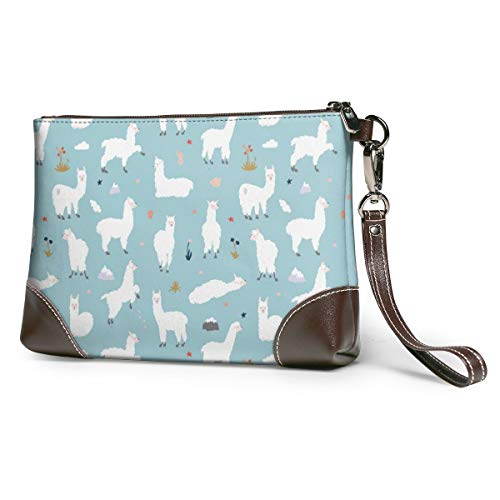 Llama Alpaca Canvas Makeup Bag Pouch Purse Handbag Organizer with Zipper
