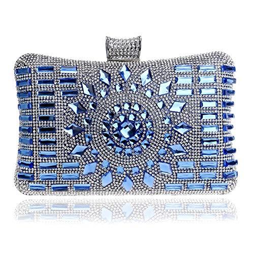 Handbag – Diamond Evening Bag, European and American Ladies Banquet Bag, Hand Evening Bag, Wallet, Chain Inclined Shoulder Bag, Dress Bag Fashion