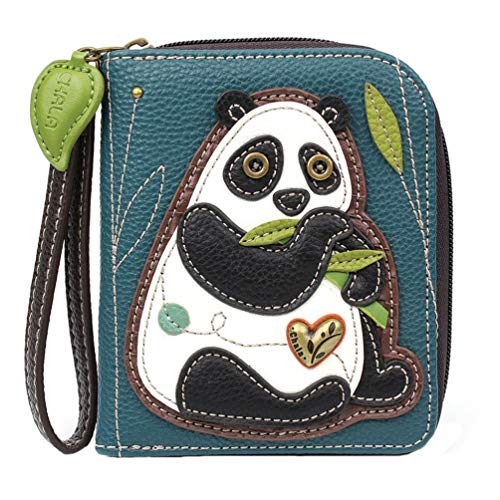 Chala Panda Zip-Around Wallet/Wristlet