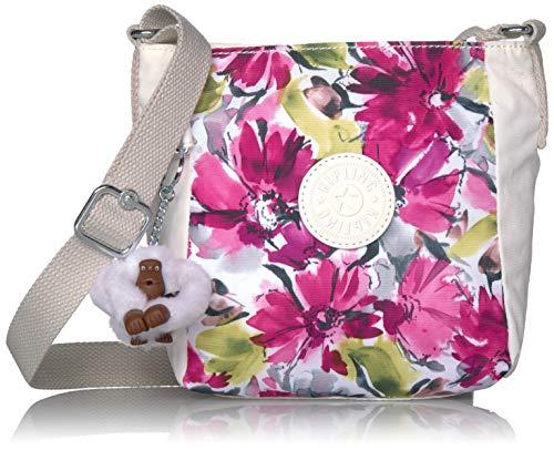 Kipling Women's Austin Small Crossbody Bag, Adjustable Strap, Zip Closure, blushing posies blue, One Size