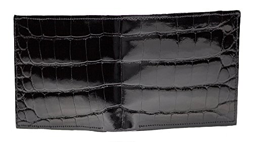 Mens Designer Classic Black Alligator Wallet
