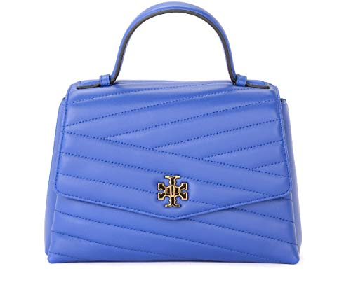 Tory Burch Tory Burch Kira Chevron Shoulder Bag In Blue Quilted Leather Blue