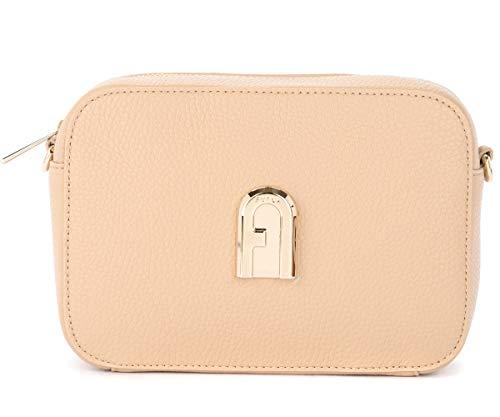 Furla Furla Sleek Mini Shoulder Bag In Sand-colored Leather With Shoulder Strap Beige
