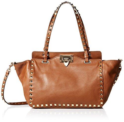 VALENTINO Women's Rockstud Double Handle Bag, Leo Print