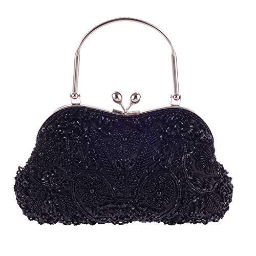 Moonar Women's Vintage Evening Bag Beaded Sequin Evening Party Handbag