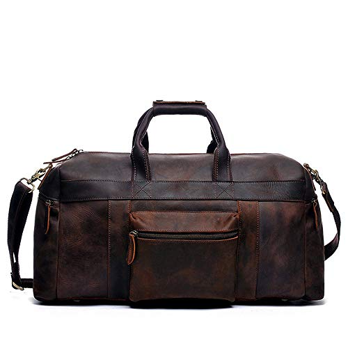 Multi-Functional Travel Shoulder Bag Large Capacity Travel Luggage Tote Shoulder Bag Leather Waterproof Handbag for Men for Men Women