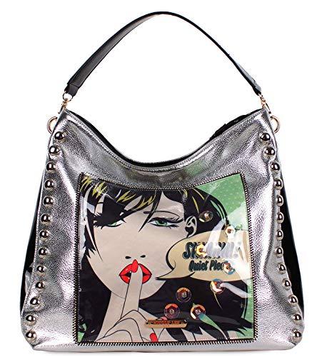 New Nicole Lee Metallic Hobo Handbag – Quiet Please (Sueña en silencio)