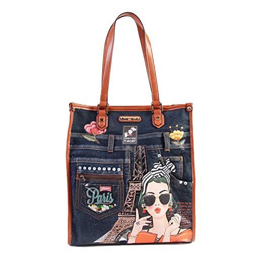 Exclusive, Fashionable, Stylish Paris Denim Tote Bag