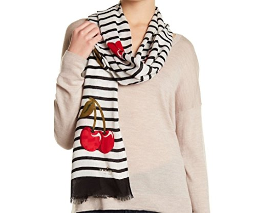 Kate Spade Ma Cherie Striped Scarf, Navy/White
