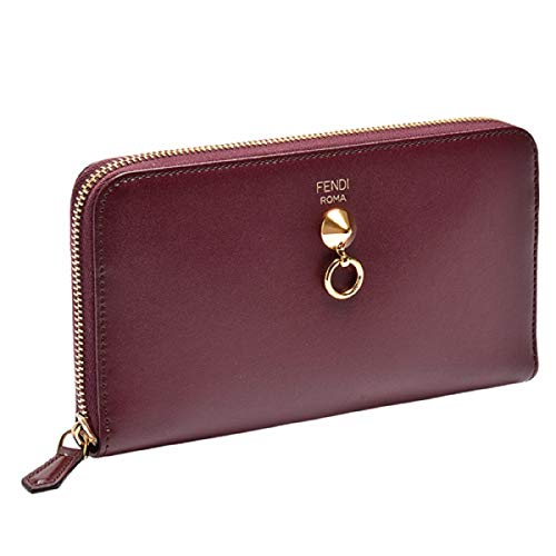 Fendi By The Way Burgundy Leather Full Zip Wallet 8M0299-F0KZU