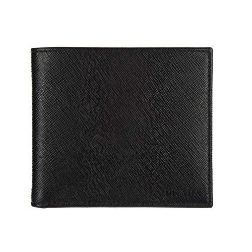 Prada Portaf. Orizzontale Saffiano Cuir Leather Nero Black Wallet 2MO513