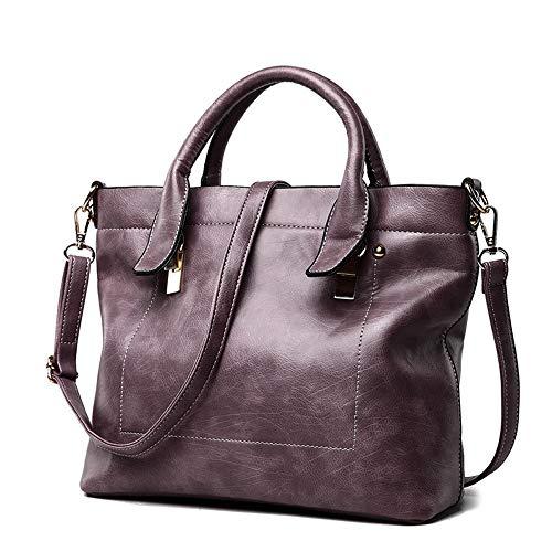 Nuanxingjiafang Handbag-Wild-Style Simple Tote Bag, Shoulder Bag Crossbody Bag, Leather, 29 12 24cm Fashion
