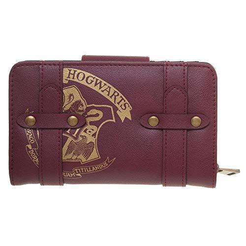 Harry Potter Girls Wallet Maroon Hogwarts Crest Harry Potter Satchel Wallet