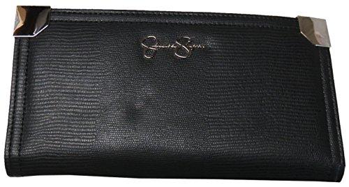 Jessica Simpson Women's Frankie Wallet, Size 8″x 4″, Black