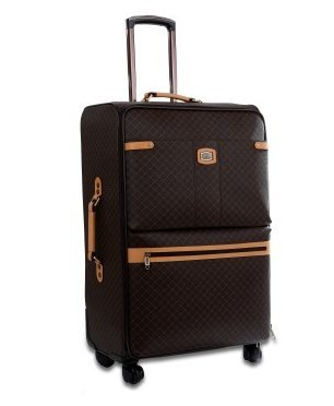 Rioni Medium 25″ Spinner Luggage – Signature Brown
