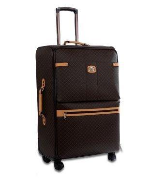 Rioni Medium 25″ Spinner Luggage – Signature Brown