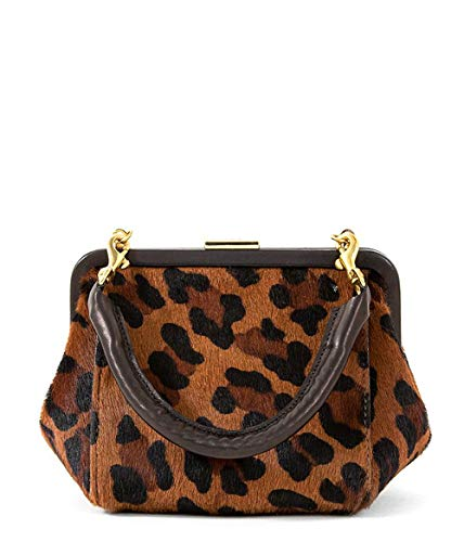 Clare V. Le Box Bag in Pablo Cat Hair-On Print