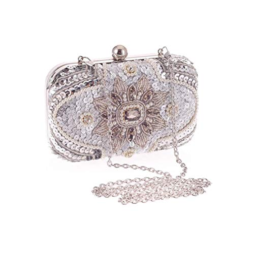 Nwn Evening Bag Europe and America Diamond Beaded Banquet Clutch, Mini Chain Bag16x10x5.5cm
