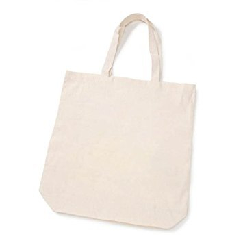 Darice Bulk Buy DIY Crafts Eco Tote 100 Percent Cotton 15 x 16 x 4 inches (20-Pack) 1180-50
