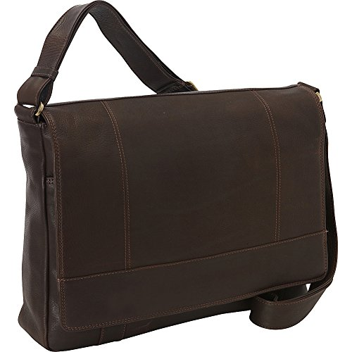 Derek Alexander Ew 3/4 Flap Unisex Messenger Bag, Brown, One Size