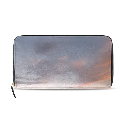 Maxm Women Lake Island Trees Sky Sunset Print Wallet Exquisite Clasp Coin Purse Girls Clutch Handbag