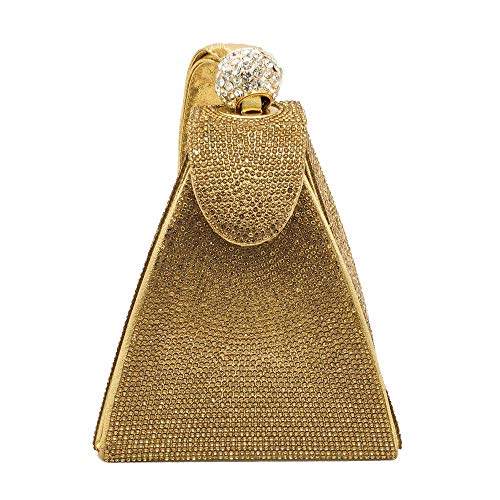 MQW Golden Diamond Drilling Hot Evening Bag Clutch Bag Handbag Shoulder Bag Handbag 14 10 12cm Beautiful and Fashionable