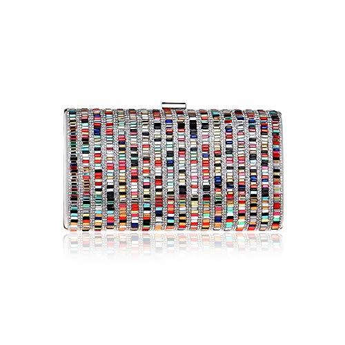 XiAdi Handbag – Stylish High-end Square Diamond-Encrusted Evening Bag, Vintage Evening Bag, for Ladies, Multi-Coloured, 225 11.5cm Leggings Bag