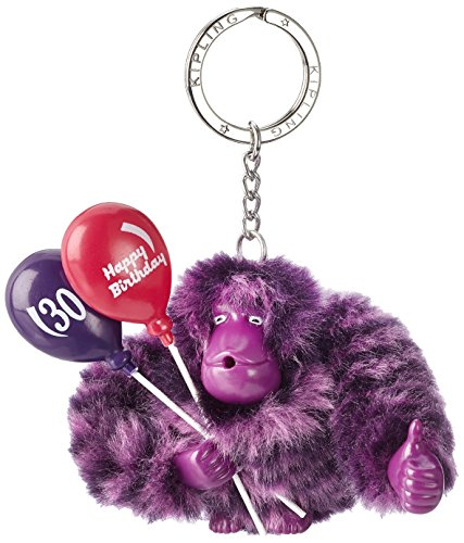 Kipling Happy 30, Women's Keyring, Violett (Happy Purple), 9×9.5×4.5 cm (B x H T)